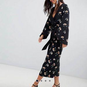 ASOS Kimono Floral Jumpsuit